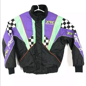 Vintage Snowmobile Jacket Racing Insulated XRC
